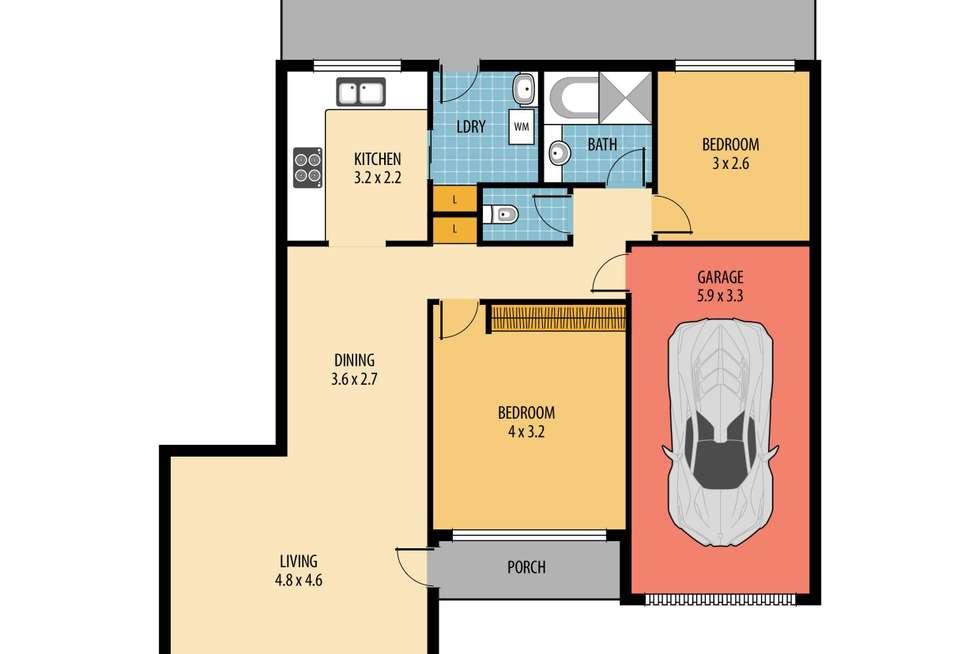 Floorplan of Homely villa listing, 2/207 Albany Street, Point Frederick NSW 2250