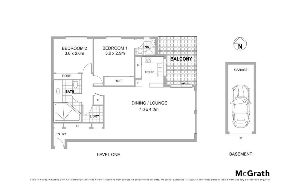 Floorplan of Homely apartment listing, 11/21 Water Street, Hornsby NSW 2077