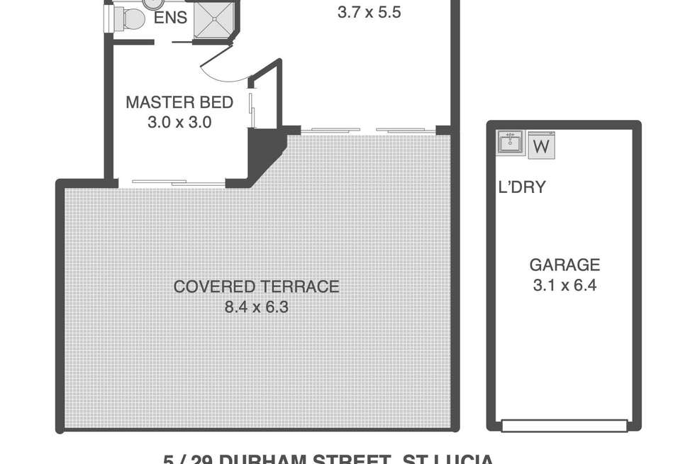 Floorplan of Homely unit listing, 5/29 Durham Street, St Lucia QLD 4067
