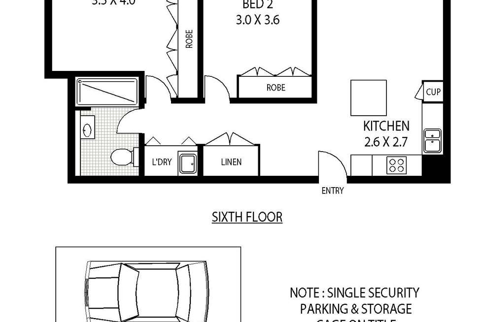 Floorplan of Homely apartment listing, 602/20 Pelican Street, Surry Hills NSW 2010