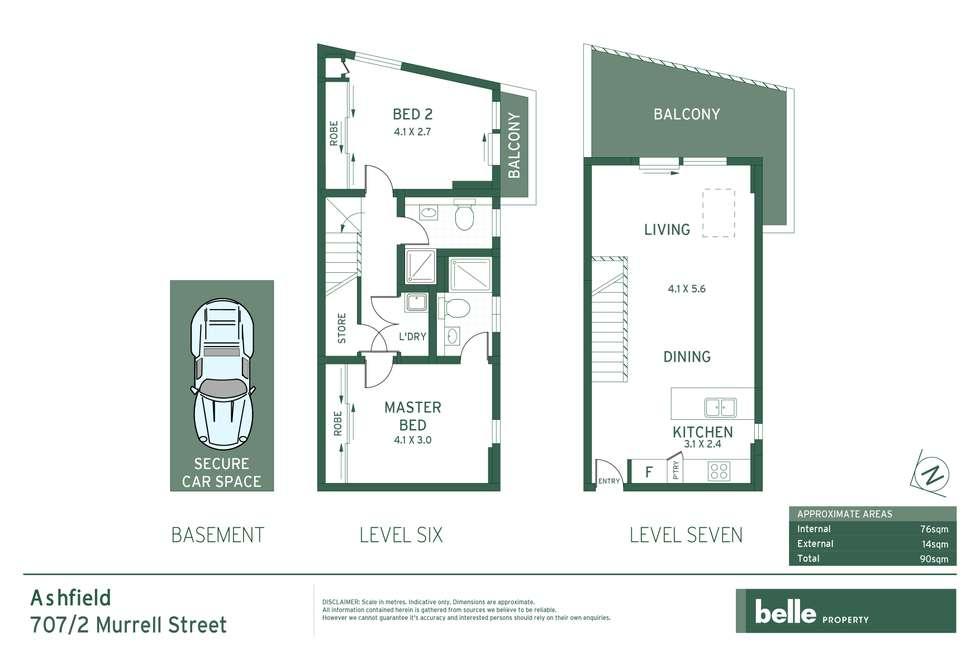 Floorplan of Homely apartment listing, 707/2 Murrell Street, Ashfield NSW 2131