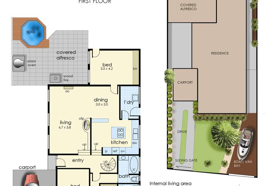 Floorplan of Homely house listing, 3 Zara Court, Frankston VIC 3199