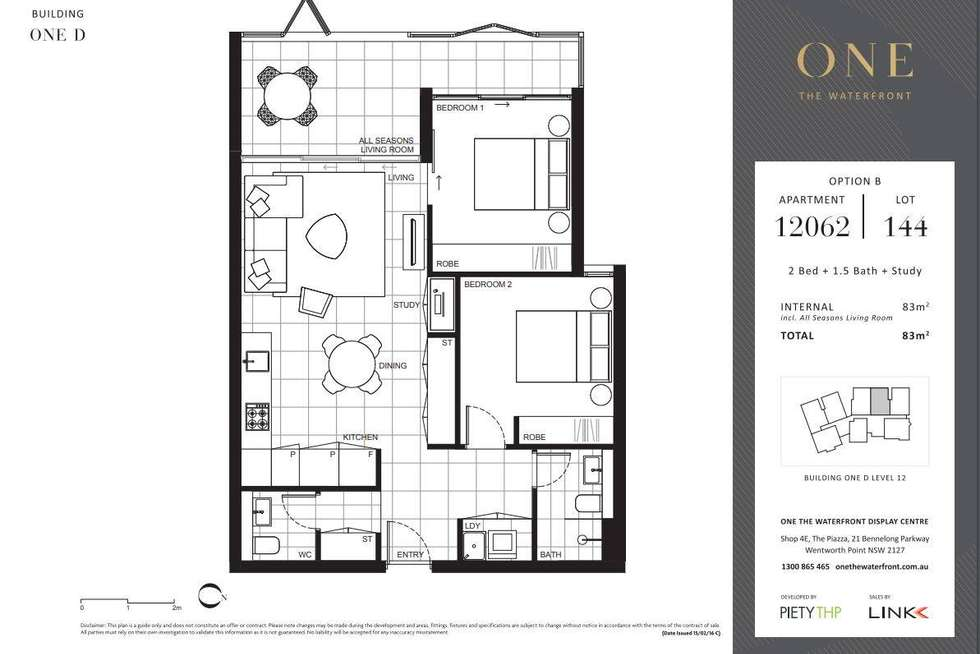 Floorplan of Homely apartment listing, D12062/7 Bennelong Parkway, Wentworth Point NSW 2127