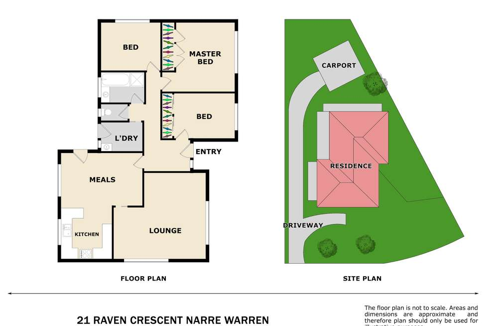 Floorplan of Homely house listing, 21 Raven Crescent, Narre Warren VIC 3805