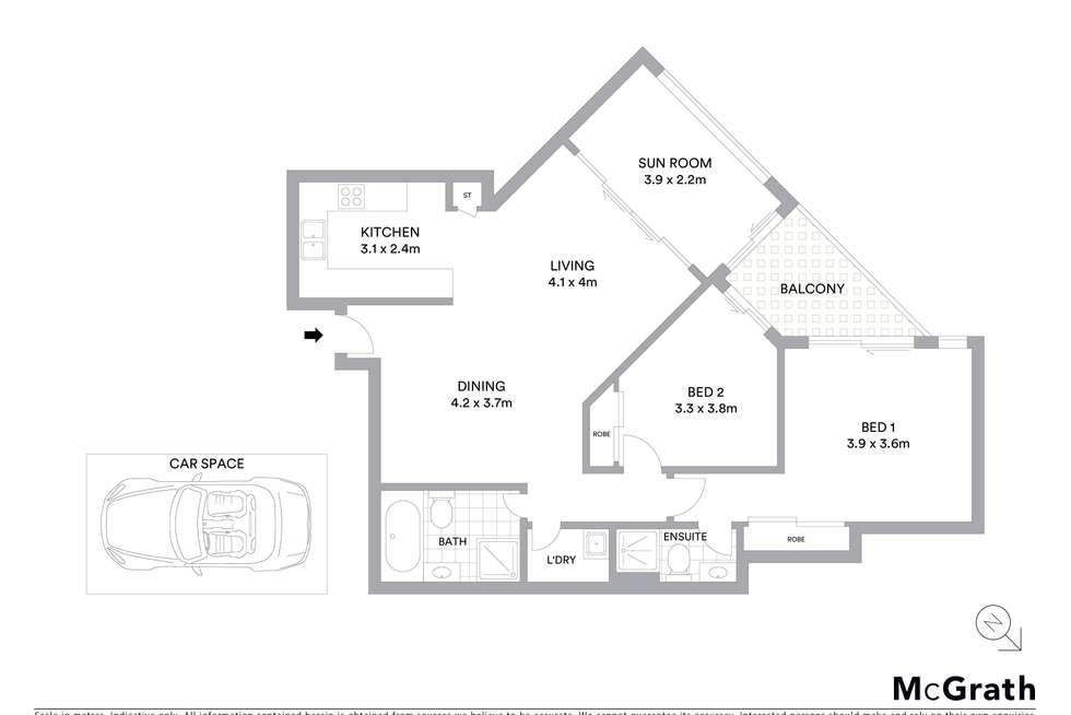Floorplan of Homely apartment listing, 100/3 Sorrell Street, Parramatta NSW 2150