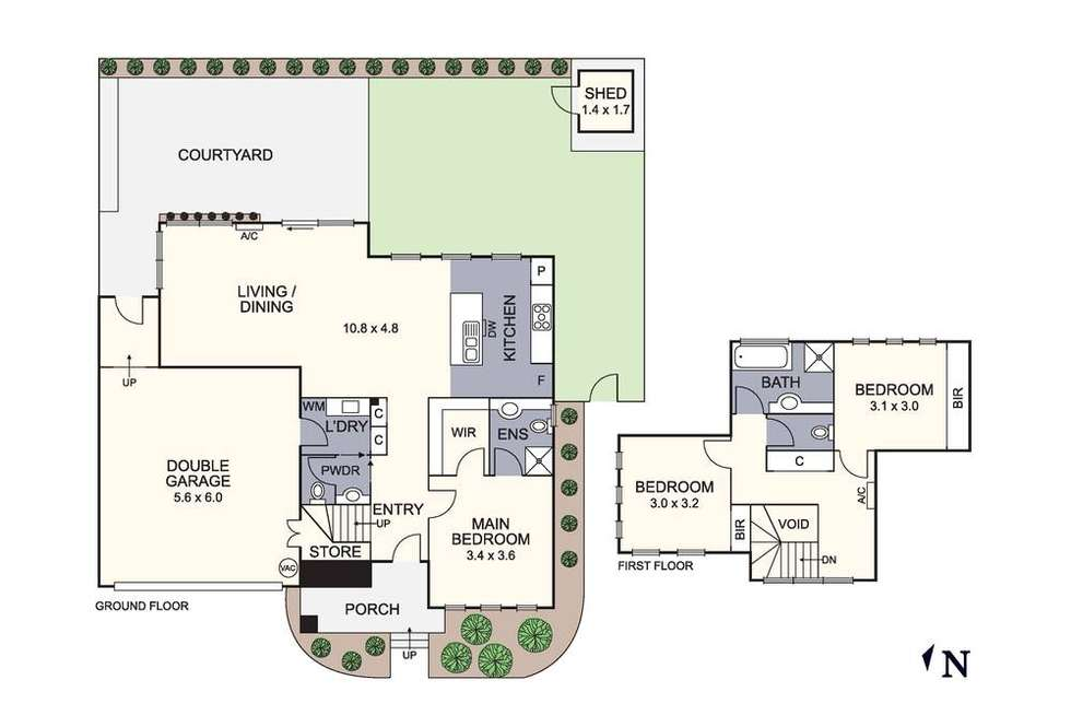 Floorplan of Homely townhouse listing, 3/29 Culcairn Drive, Frankston South VIC 3199
