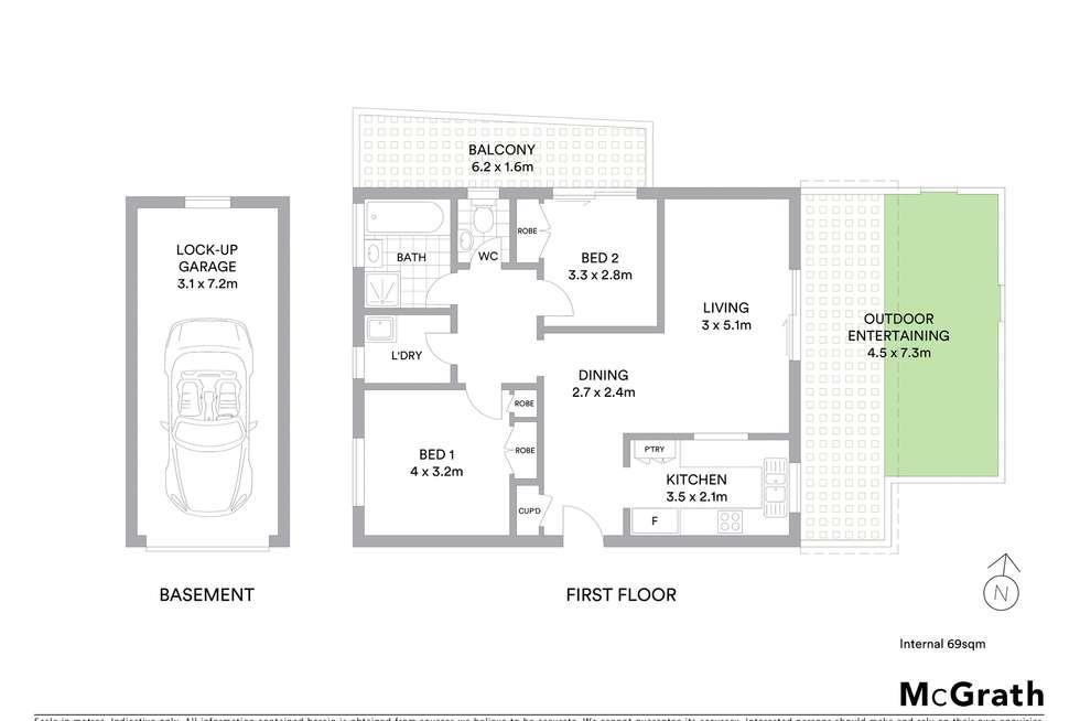 Floorplan of Homely apartment listing, 1/26-28 Burdett Street, Hornsby NSW 2077