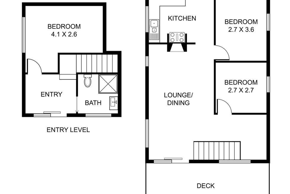 Floorplan of Homely house listing, 22 Birdwood Avenue, Upwey VIC 3158