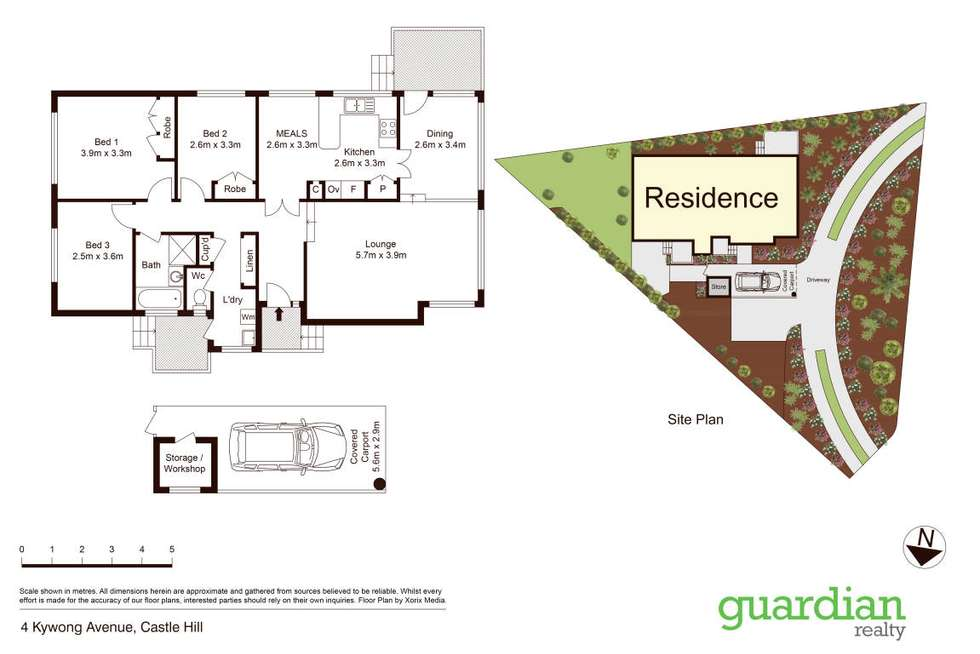 Floorplan of Homely house listing, 4 Kywong Avenue, Castle Hill NSW 2154