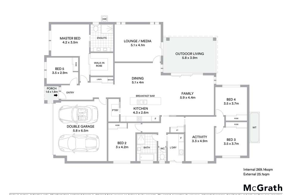 Floorplan of Homely house listing, 4 Jock Avenue, North Boambee Valley NSW 2450
