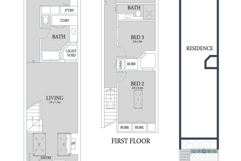 Floorplan of Homely house listing, 45 Junior Street, Leichhardt NSW 2040