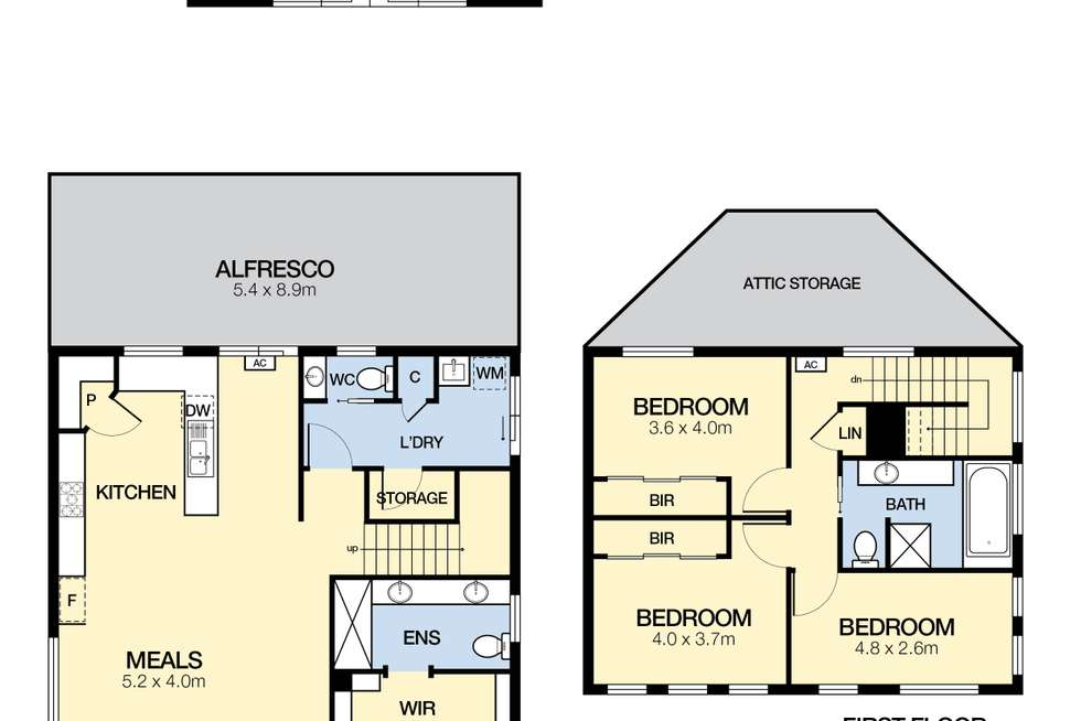 Floorplan of Homely house listing, 16 Creekview Place, Caroline Springs VIC 3023