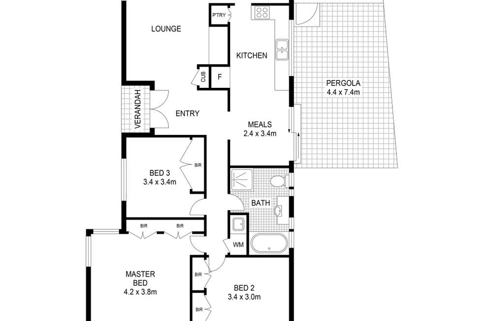 Floorplan of Homely house listing, 9 Lancaster Way, Melton West VIC 3337