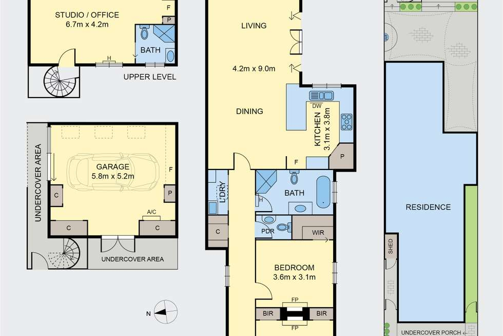 Floorplan of Homely house listing, 16 Hutcheson Street, Moonee Ponds VIC 3039