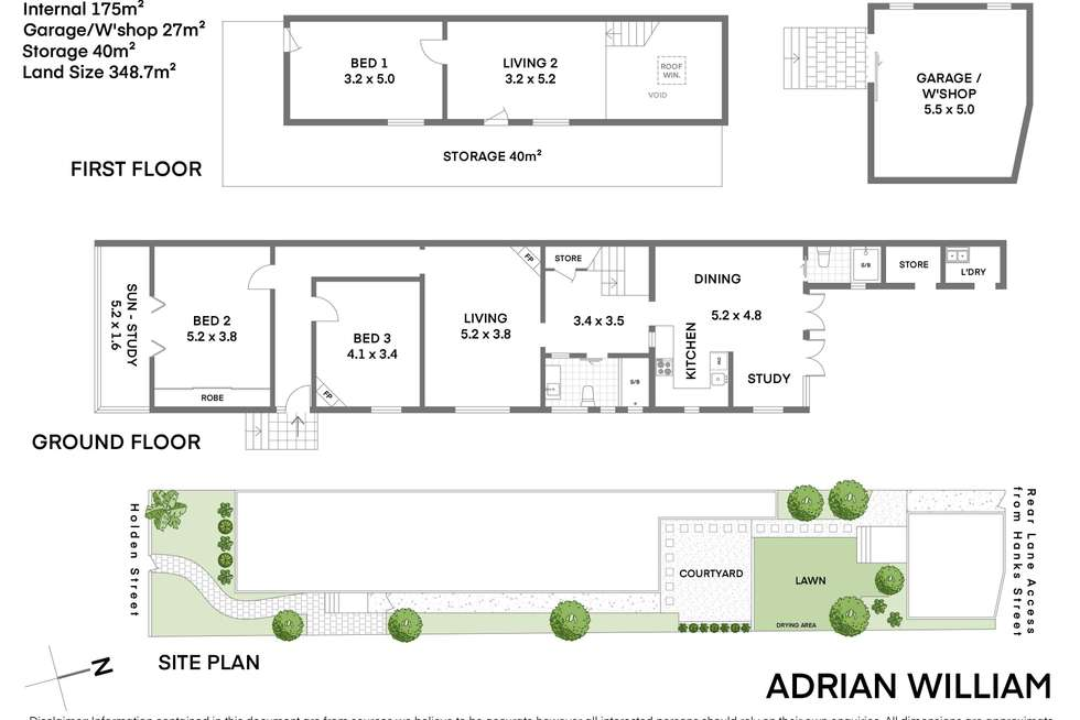 Floorplan of Homely house listing, 214 Holden Street, Ashfield NSW 2131
