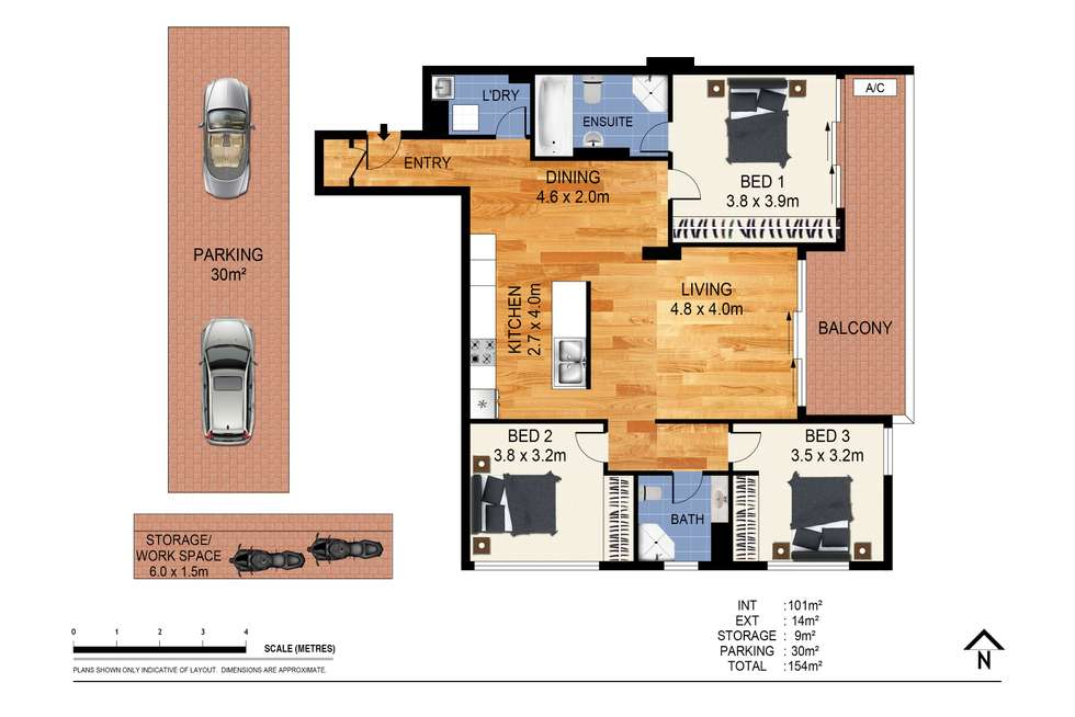 Floorplan of Homely apartment listing, 1404/6 Lachlan Street, Waterloo NSW 2017