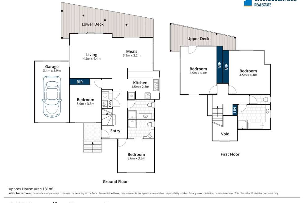 Floorplan of Homely house listing, 2/12 Lascelles Terrace, Lorne VIC 3232