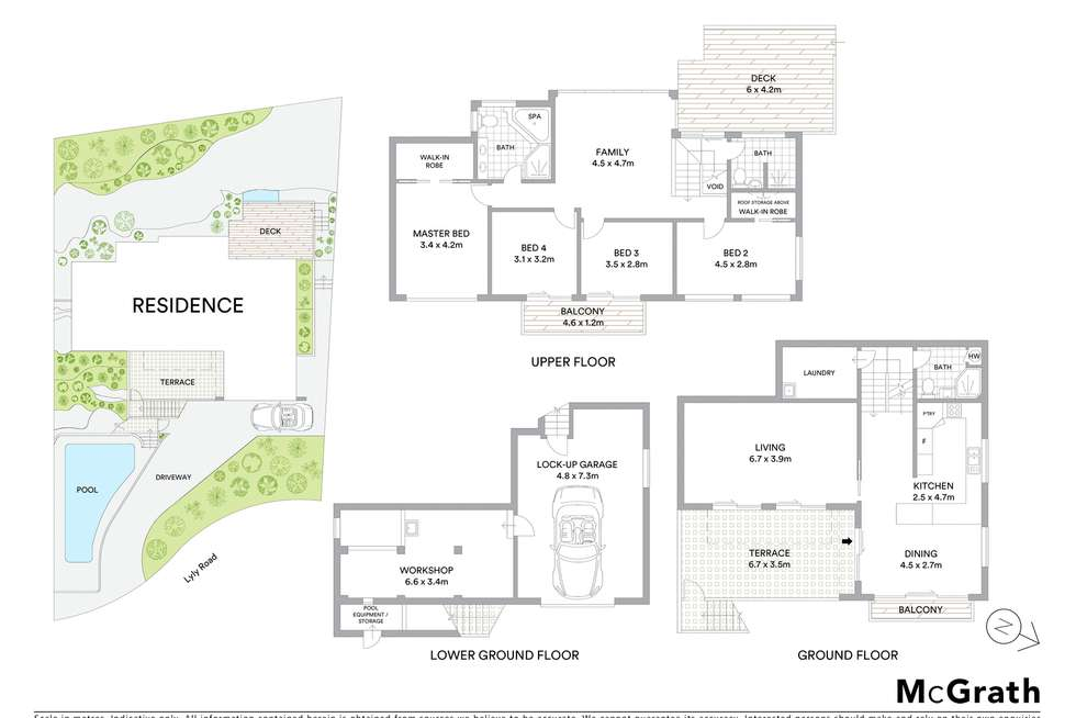 Floorplan of Homely house listing, 34 Lyly Road, Allambie Heights NSW 2100
