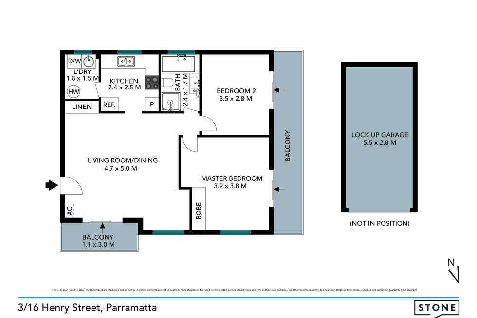 Floorplan of Homely apartment listing, 3/16 Henry Street, Parramatta NSW 2150