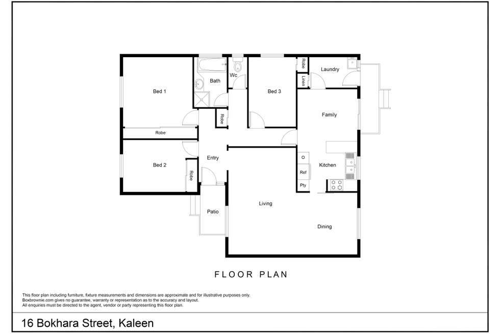 Floorplan of Homely house listing, 16 Bokhara Circuit, Kaleen ACT 2617