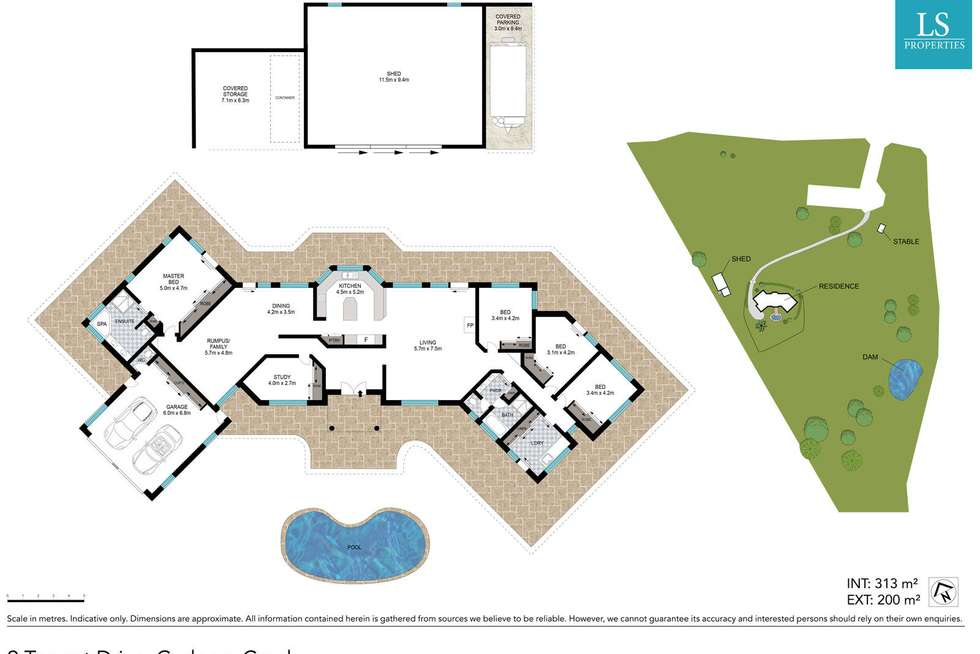 Floorplan of Homely house listing, 9 Tagget Drive, Cudgera Creek NSW 2484