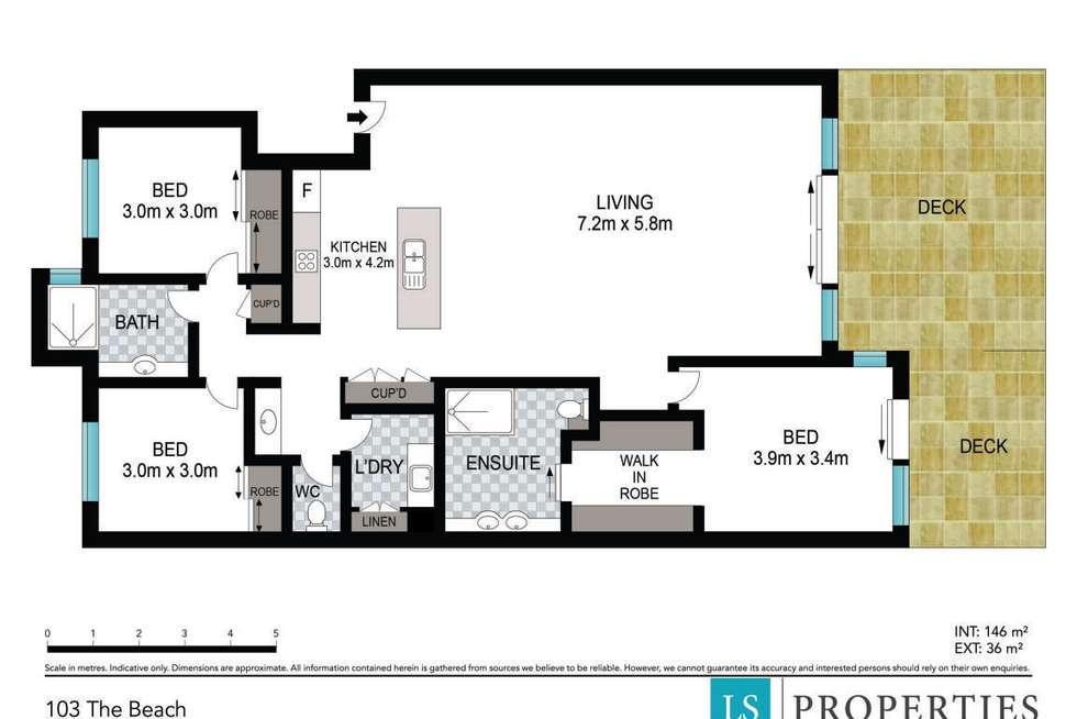 Floorplan of Homely apartment listing, 3/2-6 Pandanus Parade, Cabarita Beach NSW 2488