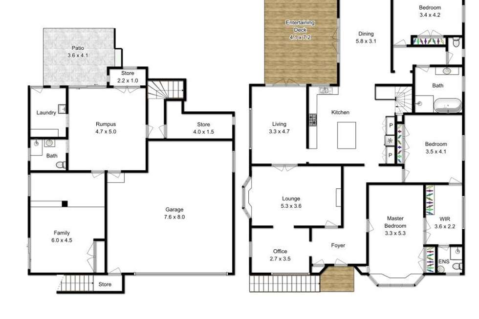 Floorplan of Homely house listing, 78 Ascot Street, Ascot QLD 4007