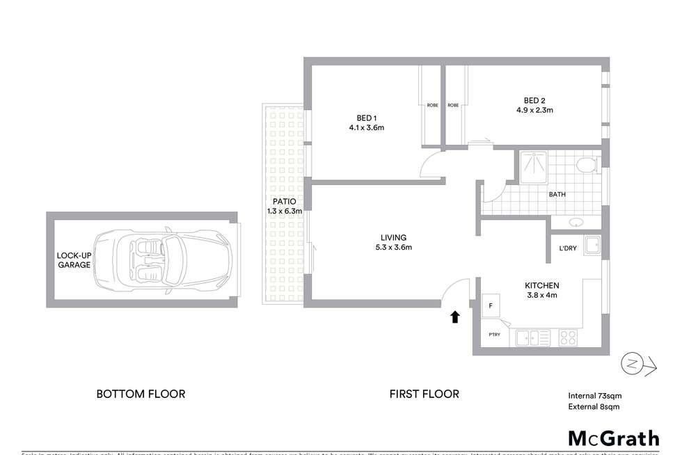 Floorplan of Homely unit listing, 8/2 Howitt Street, North Ward QLD 4810