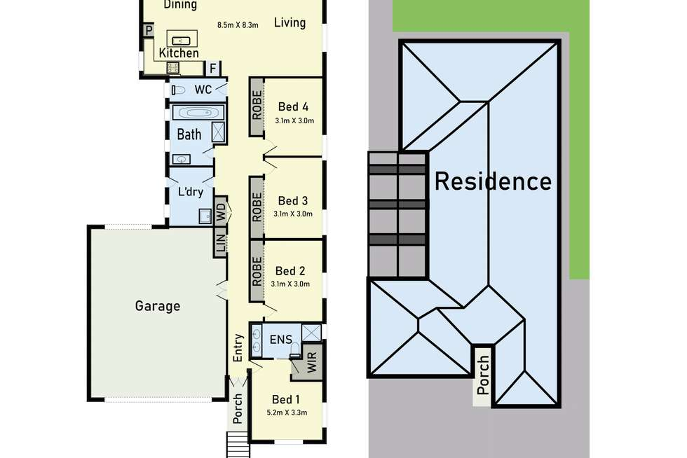 Floorplan of Homely house listing, 9 Pepper Tree Court, Caroline Springs VIC 3023