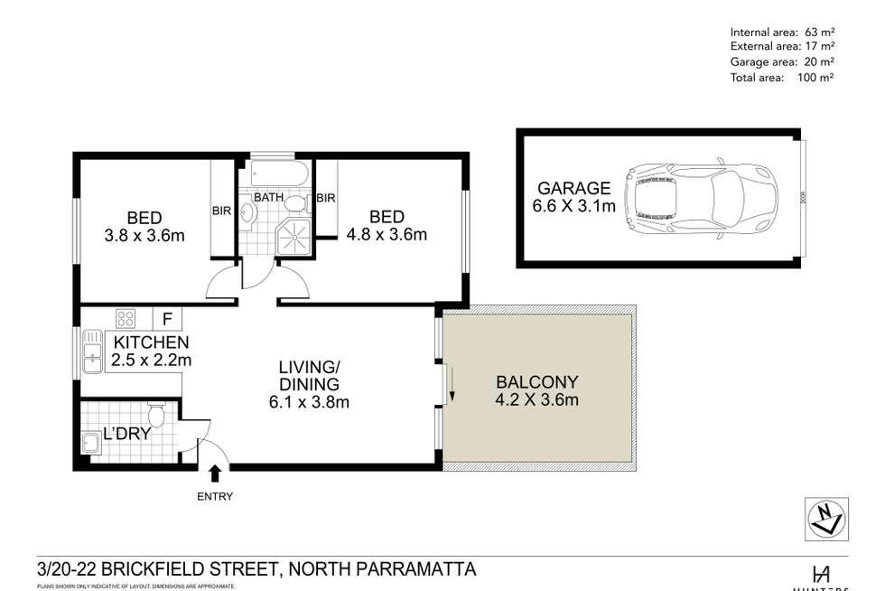 Floorplan of Homely apartment listing, 3/20-22 Brickfield Street, North Parramatta NSW 2151