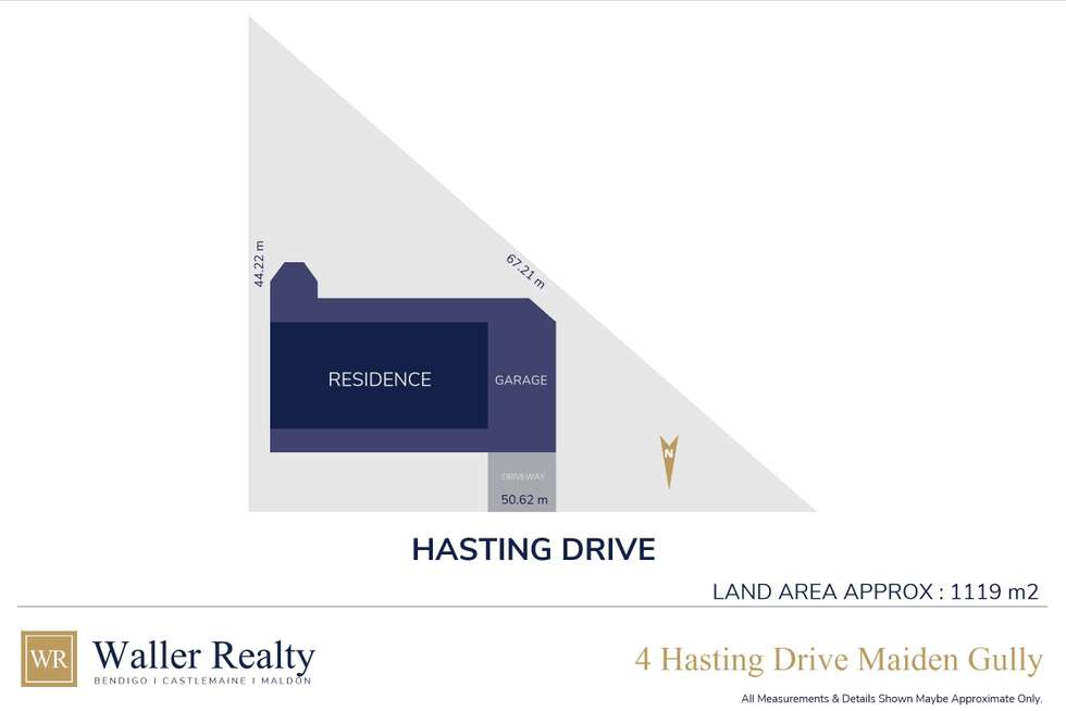 Floorplan of Homely house listing, 4 Hastings Drive, Maiden Gully VIC 3551