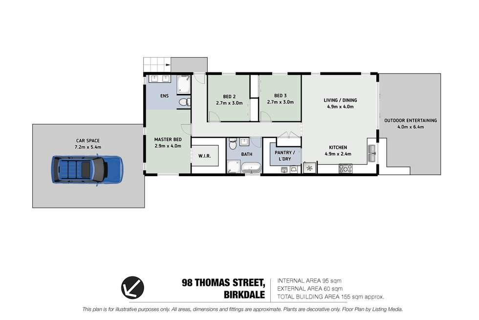 Floorplan of Homely house listing, 98 Thomas Street, Birkdale QLD 4159