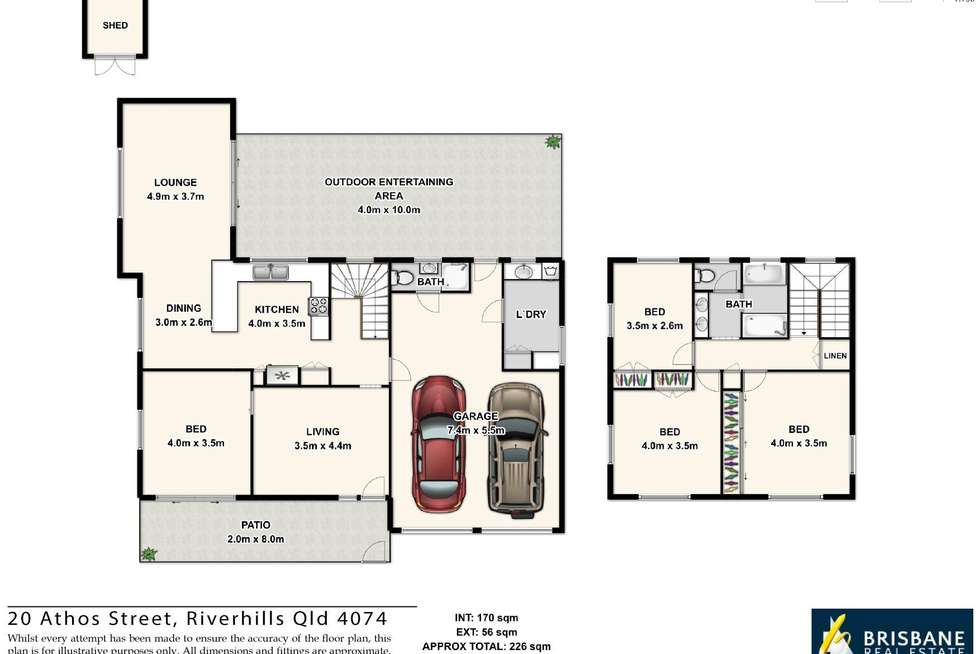 Floorplan of Homely house listing, 20 Athos Street, Riverhills QLD 4074