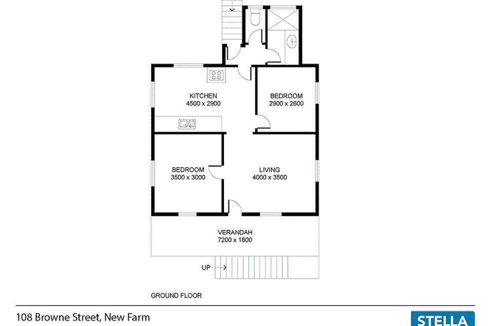 Floorplan of Homely house listing, 108 Browne Street, New Farm QLD 4005