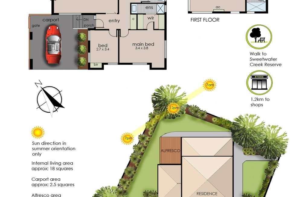 Floorplan of Homely house listing, 72 Blaxland Avenue, Frankston South VIC 3199