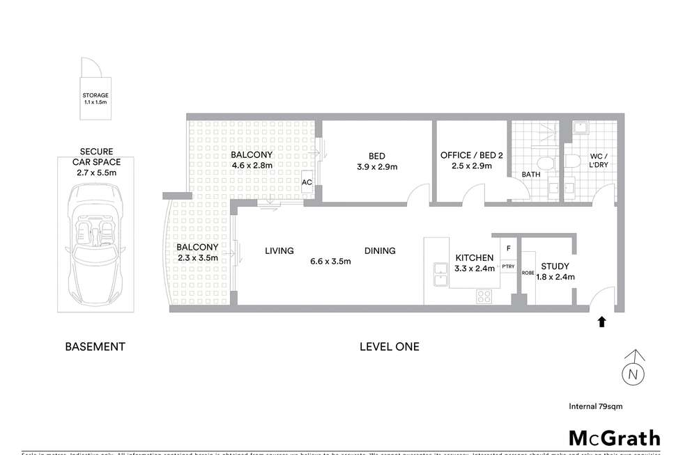 Floorplan of Homely unit listing, 22/20 Victoria Road, Parramatta NSW 2150