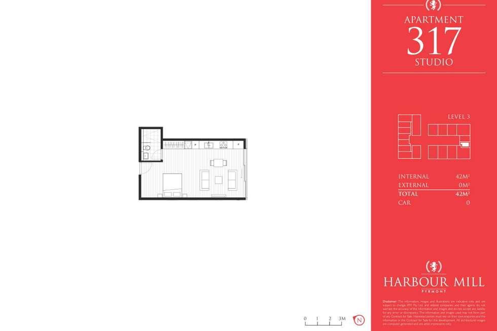 Floorplan of Homely studio listing, 317/280 Jones Street, Pyrmont NSW 2009