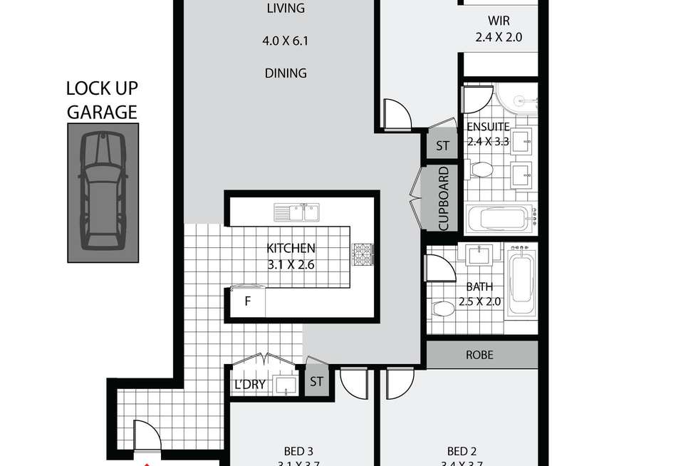 Floorplan of Homely apartment listing, 14/40 Hilly Street, Mortlake NSW 2137