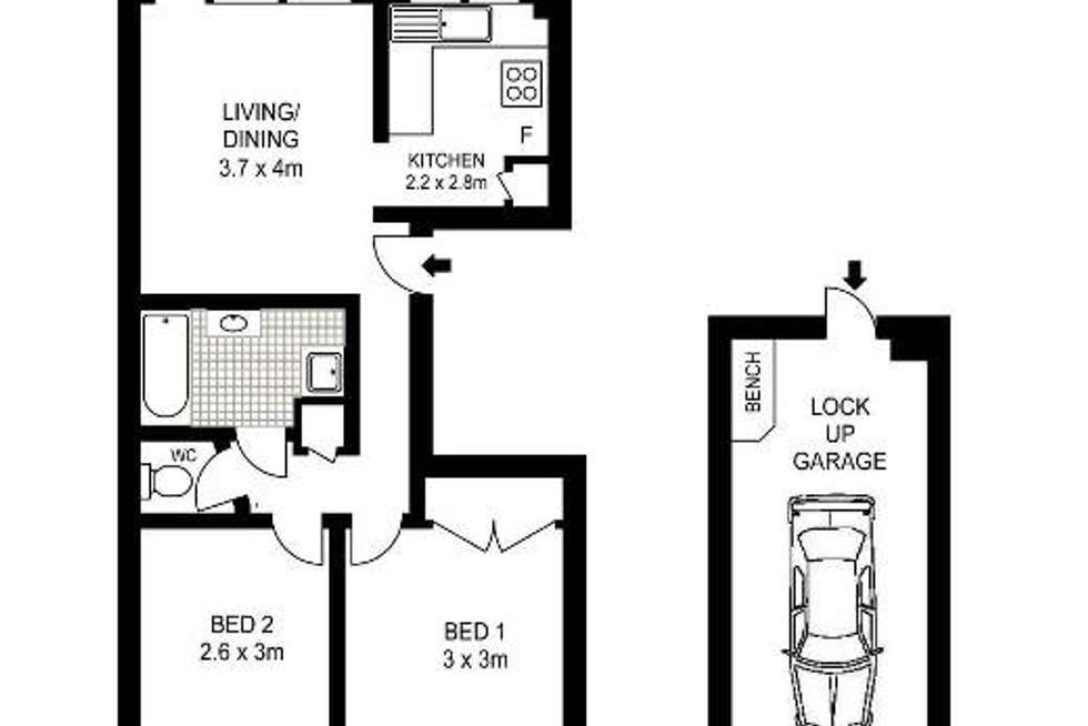 Floorplan of Homely apartment listing, 12/10 Francis Street, Dee Why NSW 2099