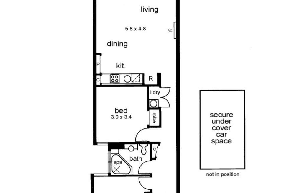 Floorplan of Homely apartment listing, 10/22 Saxon Street, Brunswick VIC 3056