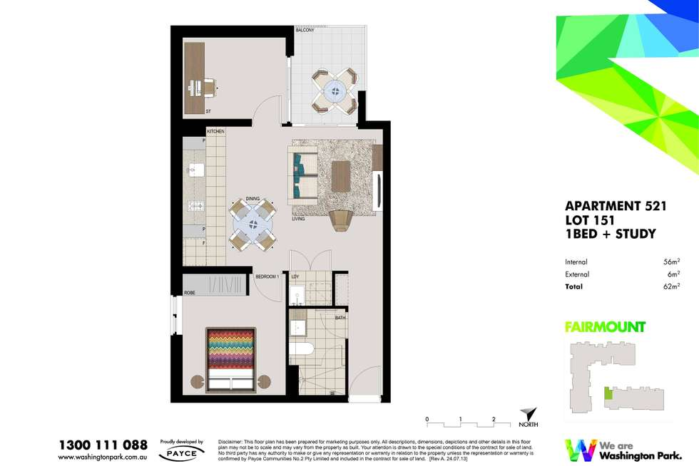 Floorplan of Homely apartment listing, 521/1 Vermont Crescent, Riverwood NSW 2210