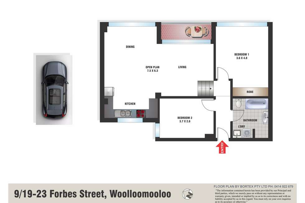 Floorplan of Homely apartment listing, 9/19-23 Forbes Street, Woolloomooloo NSW 2011