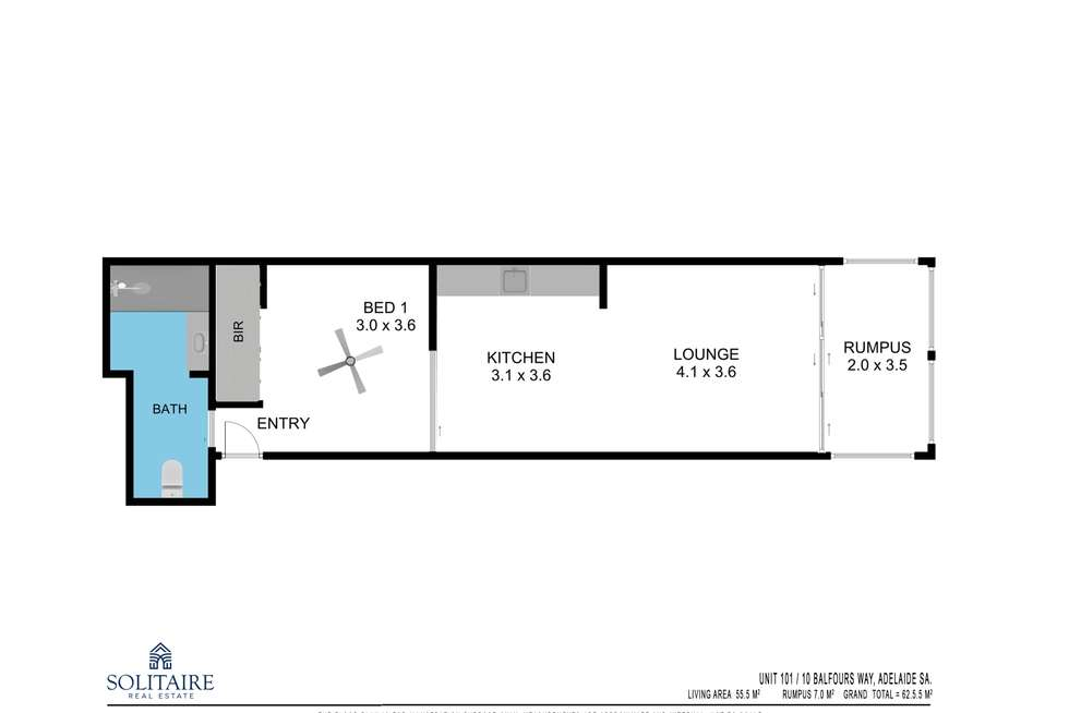 Floorplan of Homely apartment listing, 101/10 Balfours Way, Adelaide SA 5000