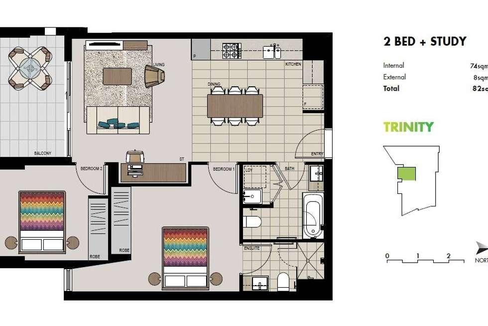 Floorplan of Homely apartment listing, 710/11 Washington Avenue, Riverwood NSW 2210