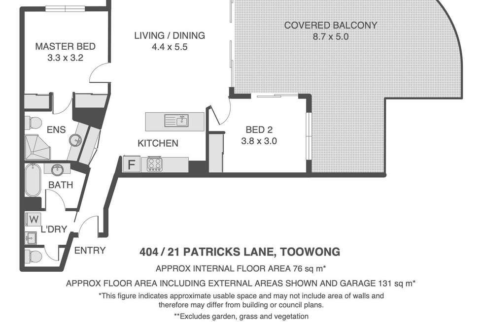 Floorplan of Homely unit listing, 404/21 Patrick Lane, Toowong QLD 4066