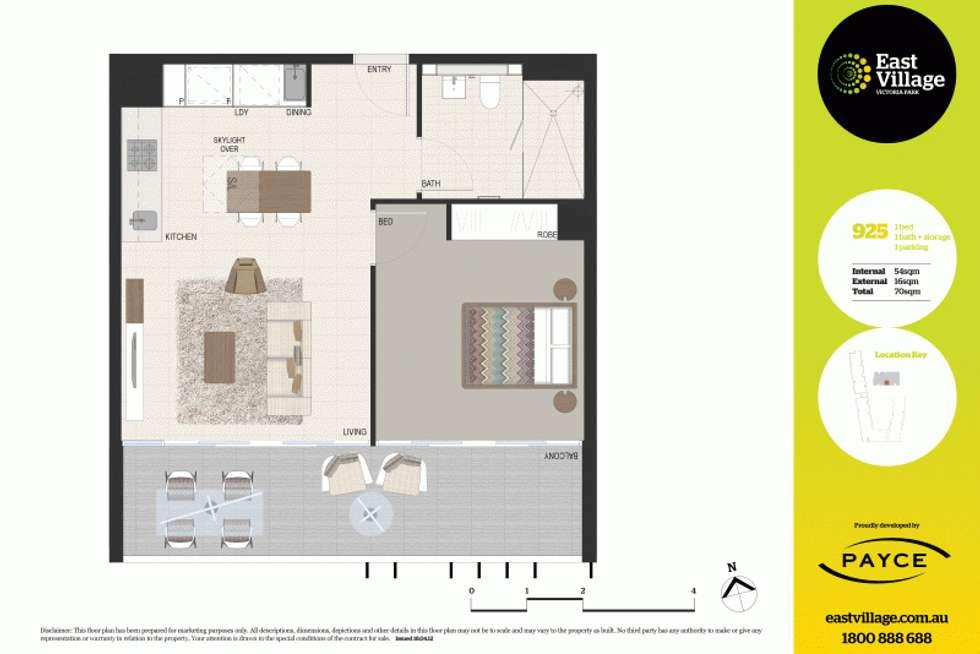 Floorplan of Homely apartment listing, 925/2B Defries Avenue, Zetland NSW 2017