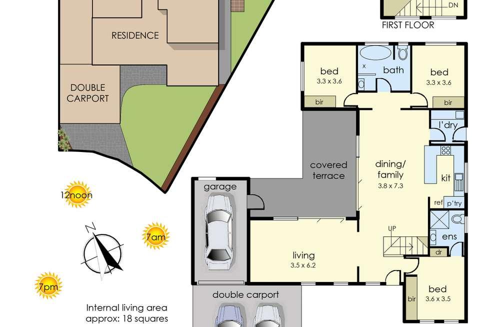 Floorplan of Homely house listing, 6 Merlin Court, Frankston VIC 3199