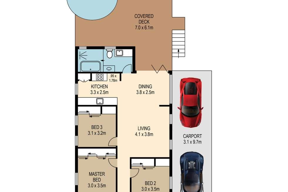 Floorplan of Homely house listing, 10 Ellis Street, Greenslopes QLD 4120