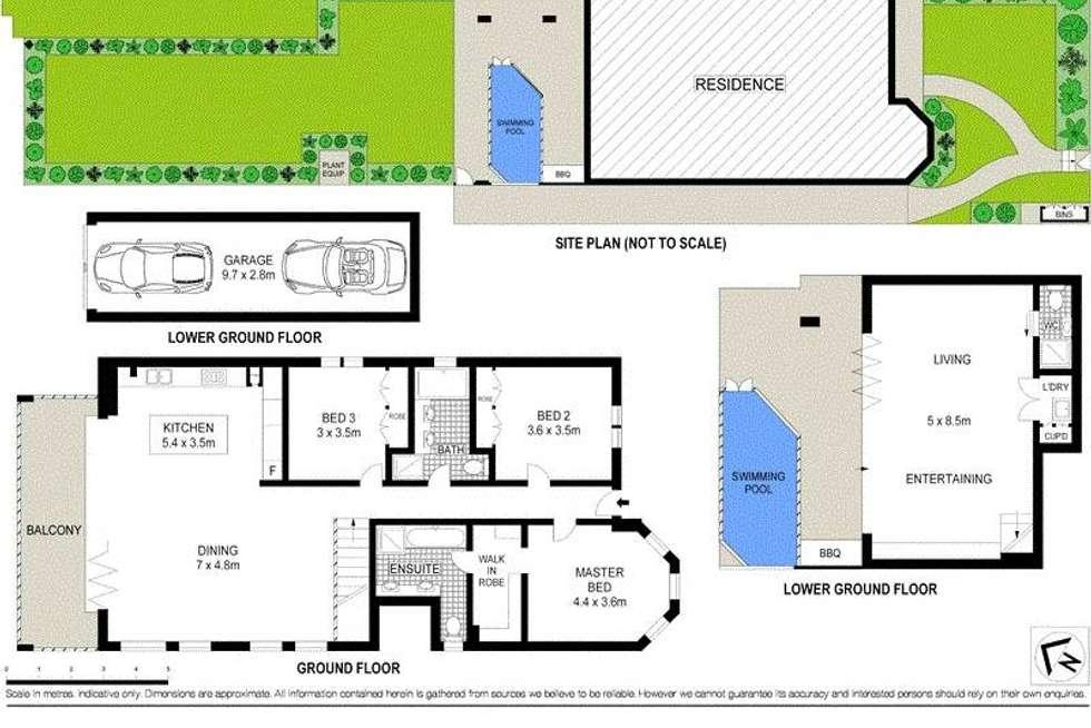 Floorplan of Homely semiDetached listing, 2/76 Gerard Street, Cremorne NSW 2090