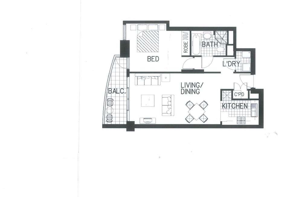 Floorplan of Homely apartment listing, 1201/79-81 Berry Street, North Sydney NSW 2060